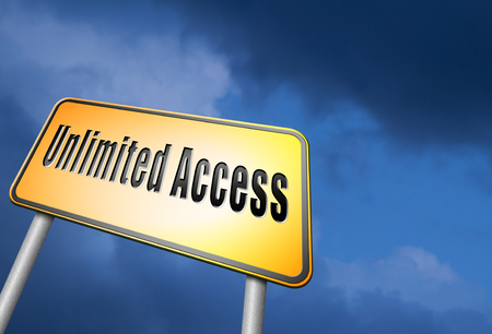 admittance: Unlimited access road sign