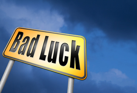 Bad luck road sign Stock Photo