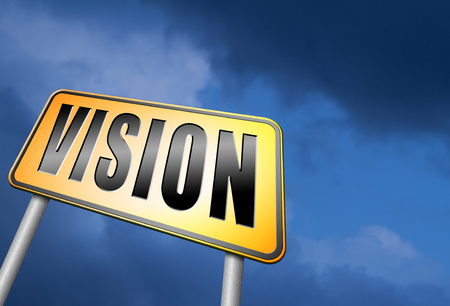 our vision: vision road sign Stock Photo