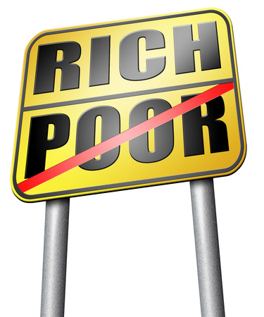 third world: rich or poor road sign