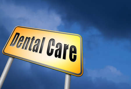 Dental care road sign Stock Photo