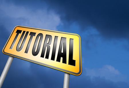tutorial: tutorial road sign Stock Photo