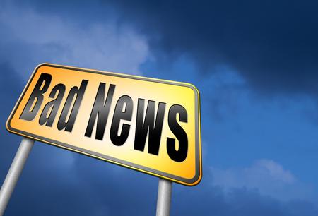 Segnale stradale di cattive notizie