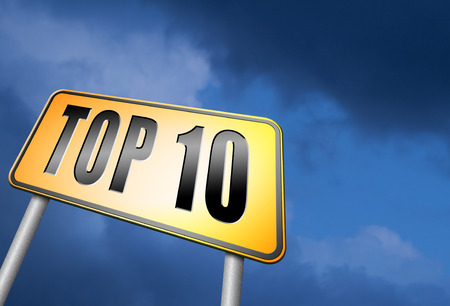 top: top 10 road sign Stock Photo