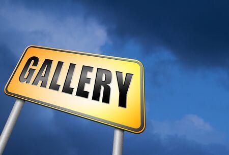 artictic: gallery road sign