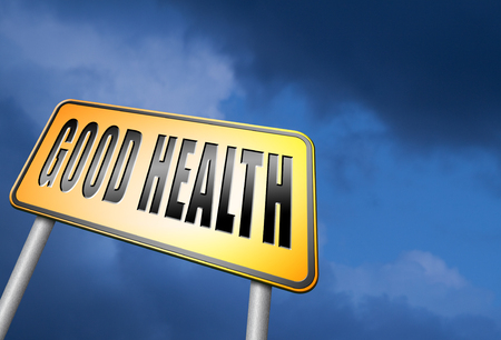 buena salud: Muestra de camino de la buena salud