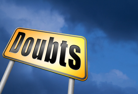 Doubts road sign Stock Photo