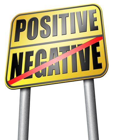 positive or negative road sign