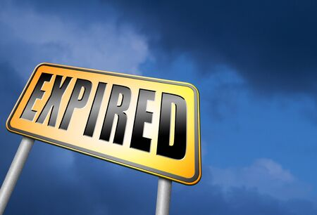 expired: expired road sign Stock Photo