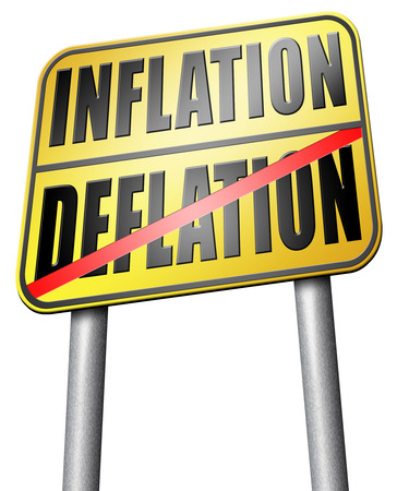 inflation: inflation deflation road sign