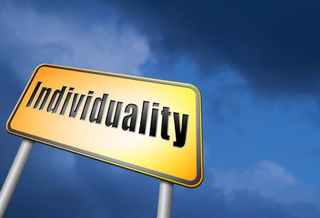 special individual: Individuality road sign Stock Photo