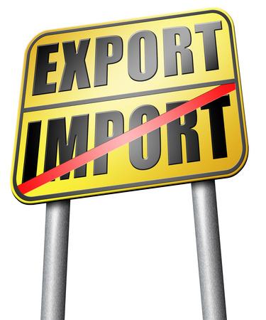 importation: import export road sign