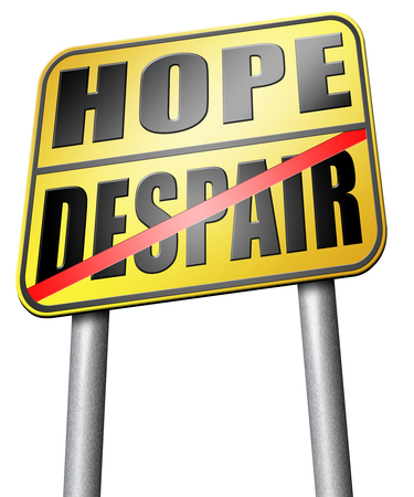 wishful: hope or despair road sign