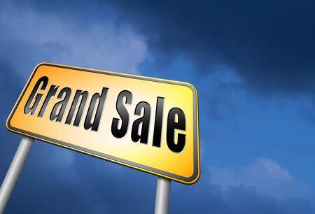 grand sale: Grand sale road sign