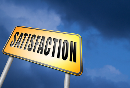 trustworthy: Satisfaction road sign