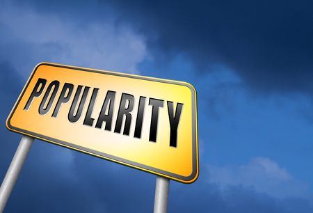 popularity: Popularity road sign