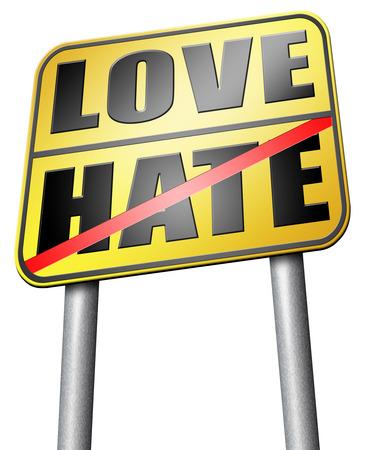 dislike it: love hate road sign