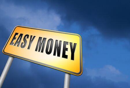earn money online: easy money road sign