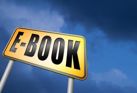 digital download: Ebook road sign Stock Photo