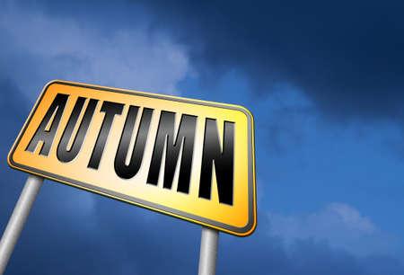 autumn road: Autumn road sign