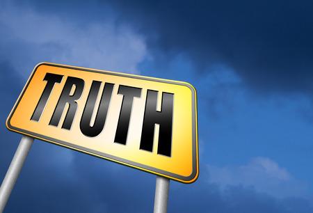 honestidad: Muestra de camino de la verdad Foto de archivo