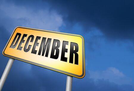 december: December road sign