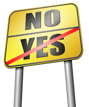 yes or no: yes or no road sign
