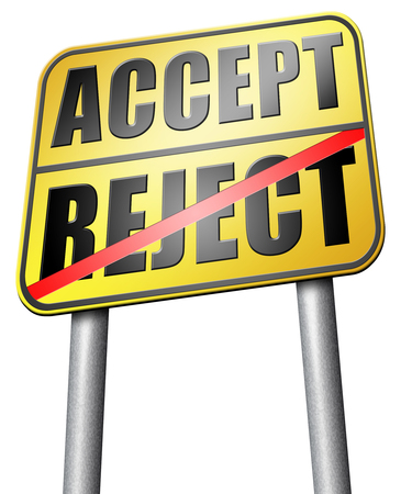 approvement: accept reject road sign