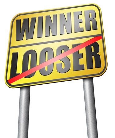 bad fortune: winner looser road sign