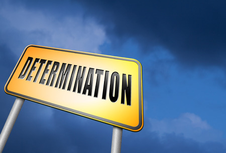 fortitude: determination road sign Stock Photo