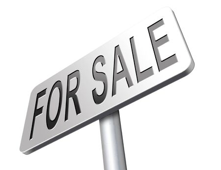 for sale sign: For sale sign, selling a house apartment or other real estate sign. Home flat or room to let icon. Stock Photo