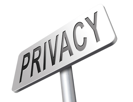 private data: private and personal information road sign, billboard for privacy protection and discretion of restricted info and data