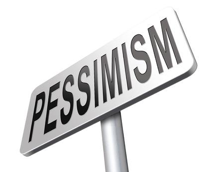 bad mood: Pessimism, negative pessimistic thinking bad mood pessimist, negativity. Stock Photo