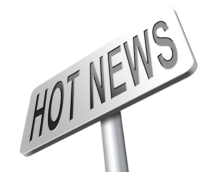 latest news: hot and latest news bulletin breaking new information Stock Photo