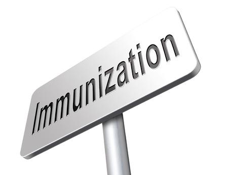 flu vaccination: Immunization or flu vaccination needle, road sign billboard.