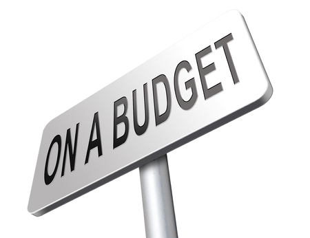 home expenses: Budgeting the income for deficit or living on a budget with a restricted amount of money. Household budget Average revenue and expediture. Stock Photo