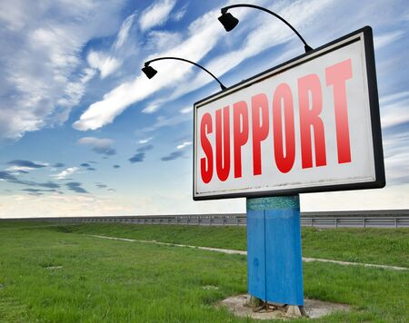 support desk: support desk icon or online help desk technical assitance and customer service Stock Photo