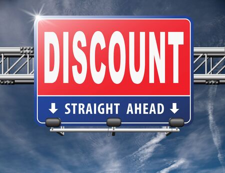 bargains: discount lowest price special offer bargain and sales discount, road sign billboard.
