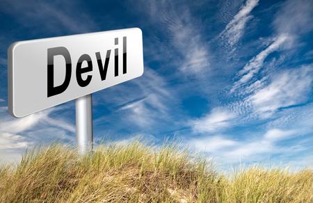 satan: Teufel böse Satan in der Hölle schmoren