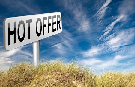 bargain for: hot offer for online internet web shop concept. Webshop shopping sales sign announcing bargain for low and best price with the best value for you money. Stock Photo