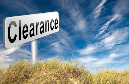 sellout: clearance grand sale sales and reduced prices % off authorization granted or denied by bill computer and information security Stock Photo