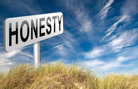 long way: Honest honesty leads a long way find justice search truth, road sign.
