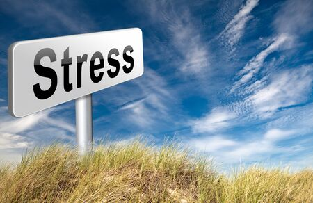 panic attack: Stress management for disorder from acute work pressure is a factor triggering a panic attack bad mental health. Stock Photo