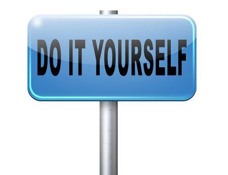 yourself: do it yourself, self development. Stock Photo