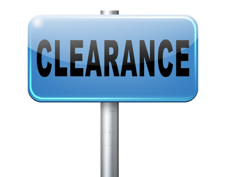 grand sale: clearance grand sale sales and reduced prices % off authorization granted or denied by bill computer and information security Stock Photo