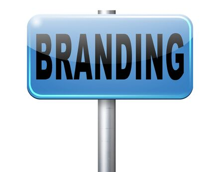 adverts: branding your name or brand product and trademark promotion road sign billboard