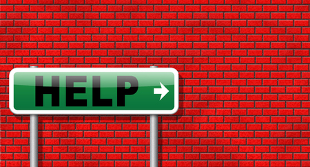 online support: help search find assistance and helping hand, support or help desk online support help road sign, billboard. Stock Photo