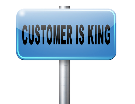 customer is king best services towards client Stock Photo