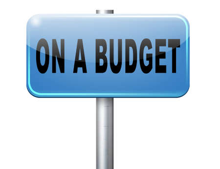 budgeting: Budgeting the income for deficit or living on a budget with a restricted amount of money. Household budget Average revenue and expediture. Stock Photo