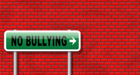 social emotional: Stop bullying at school or at work stopping an online internet bully Stock Photo